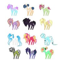 Tiny Ponies 2 - OPEN - Offer To Adopt by Emmigator