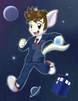 Doctor Who Print: Tennant Kitty by NeroStreet