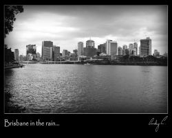 Brisbane in the rain by 2Stupid2Duck