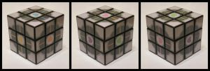 Coloured companion cube cube by Synfull