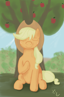 Applejack Meditates by HardCyder