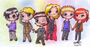Avengers Chibis COLOR by ArcherVale