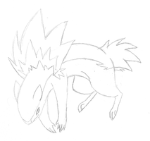 Typhlosion - Sketch by LucarioAuraGuardian