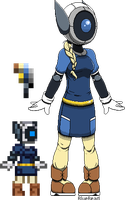 .:Dot- Starbound Glitch:. by BlueBead
