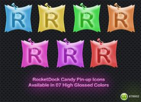 RocketDock Candy Pin-Up's by 878952