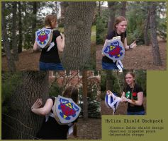 Zelda- Hylian shield backpack by Animus-Panthera