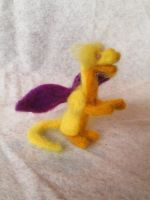 Kapaza the Needle Felt Tiny Dragon Doll by shadechristiwolven