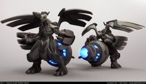 Pokemon Sculpt: Realistic Zekrom 2013 by cg-sammu