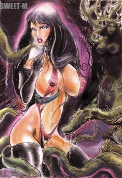 Vampirella tentacle torment by sweetmouth