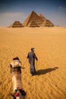 Giza Pyramids by PortraitOfaLife