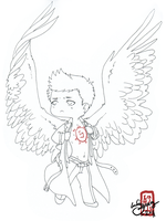 Strike a pose, Cas by IceFennek
