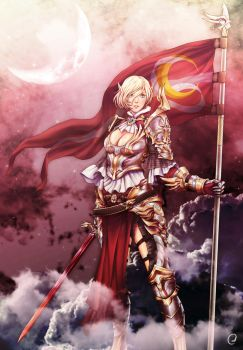 Year of Armors - Under the Scarlet Crescent Moon by PandaOnDA