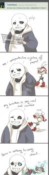Sans and Papyrus by Simuja