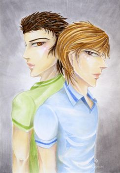 Profile Practice: Leo and Keann by Khallandra