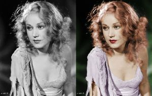 Fay Wray - before after by B-D-I