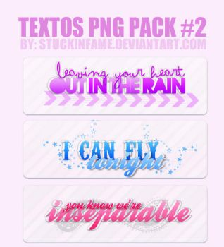 3 TEXTOS PNG SONGS by stuckinfame