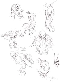 spiderman poses by bloodcult