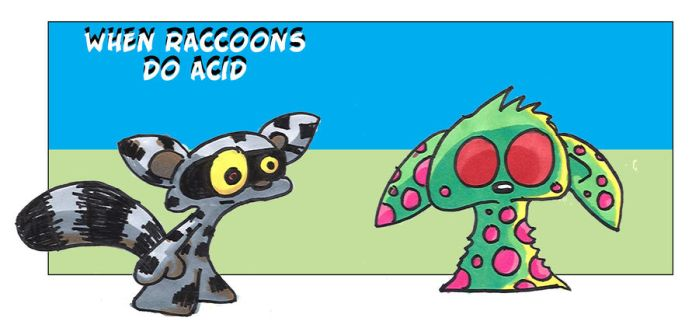 When Raccoons Do Acid by 5chmee