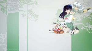 Inuyasha and Kagome Wallpaper by demeters