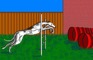 Greyhound Agility in MS Paint by Cecilia-Schmitt