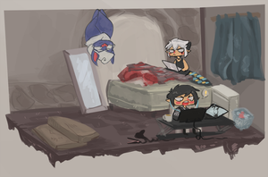 Room with losers by InkpotBot