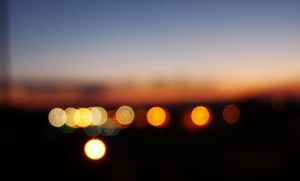 bokeh and sunset by isatere