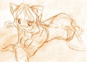 cat girl by ghostserver