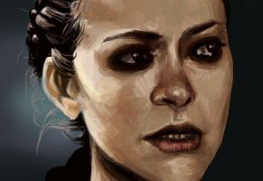 Paint Sketch - Orphan Black by YamiKatt
