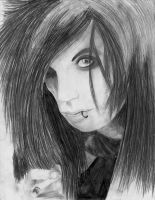 Andy Biersack Drawing by TatsuoMizushima
