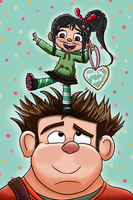 Vanellope and Ralph by ronaldhennessy