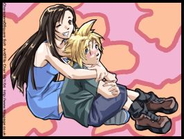 Young Cloud and Tifa by tifachan