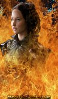 The fiery Katniss by Nikmarvel