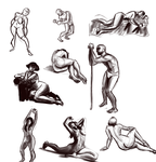 Figure Drawing Warmups Mini-Dump by Ric-M