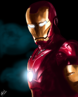 iron man painting by yuriquetto