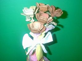 Wooden Flower Bouquet by Sawdust013