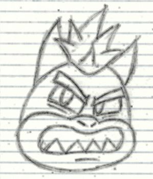 Practice Sketch...Badly drawn Bowser by SonicManiaArt