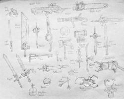 Weapons and Items by VatrewYonienOHNOES