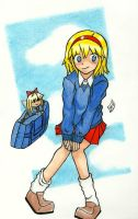 Schoolgirl Puppeteer by Kiose-Style