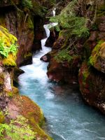 Avalanche Creek #3 by KRHPhotography