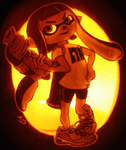 Are you a Kid? Inkling Girl Pumpkin by johwee