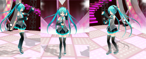 Fans Sing Along With Miku hatsune in concert by deangagaTR