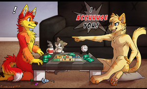 Game night! by RupeeCat