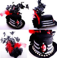Sugar and Cyanide TOP HAT by bangbangbabydesigns