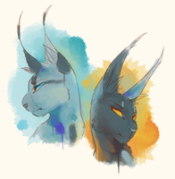 Two peeps by Finchwing