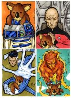 4 more sketch cards by mdavidct