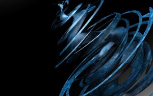 Blue Abstract Spiral by yianniscy84