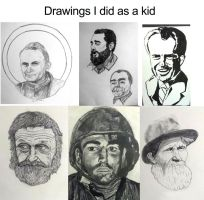 Drawings I did as a kid (late '70s or early '80s) by AG88