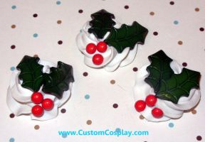 Holly and berry frosting rings by The-Cute-Storm