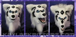 Aurora Fursuit Head by BlueWolfCheetah