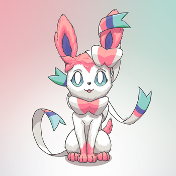 Just a cute Sylveon by TheSagnip
